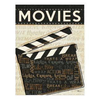 Vintage Movie Clapper Postcard