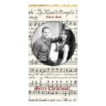 Vintage Music Photo Christmas Card Photo Card Template
