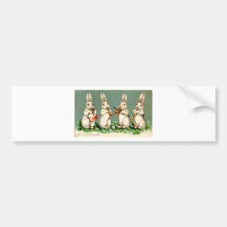 Vintage Musical Bunnies Bumper Sticker
