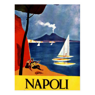 Vintage Napoli Travel Love Romance Postcard