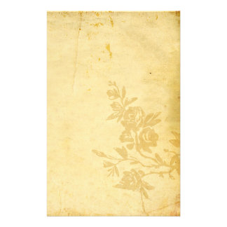 Vintage Old Paper Antique Look With Roses Stationery Paper