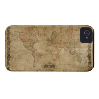Vintage Old World Map Design iPhone 4 Case-Mate Case