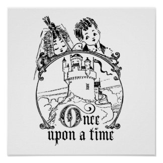 Vintage Once Upon a Time Apparel, Decor, and Gifts Poster