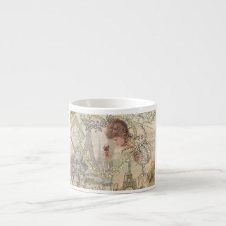 Vintage Paris France Collage Espresso Mug
