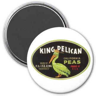 Vintage Pelican Peas Ad Label Fridge Magnet