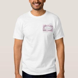 Vintage Pink Purple Floral Business Shirts