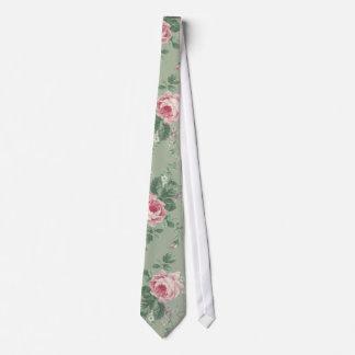 Vintage Pink Roses Floral Unisex tie