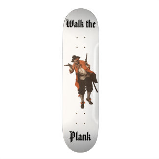 Vintage Pirate Gun Walk The Plank Skateboard Deck