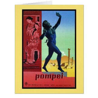 Vintage Pompeii Italian travel poster Big Greeting Card