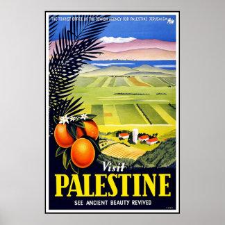 Vintage Poster Palestine Travel