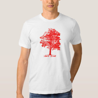Vintage Power Plant Tree Red T-shirts