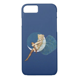 Vintage Pretty Blue Fairy Stockings Blue Moon iPhone 7 Case