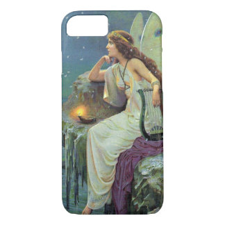 Vintage Pretty Fairy Fae Harp Candle Ocean iPhone 7 Case