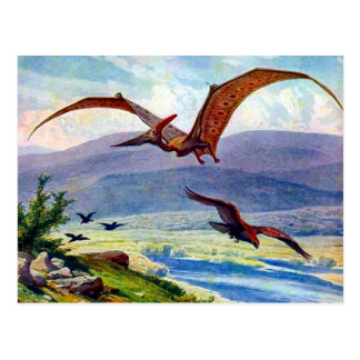 Vintage Pteranodon Painting by Heinrich Harder Postcard