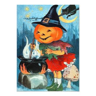 Vintage Pumpkin Halloween Invitations