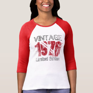 Vintage Red 1976 Limited Edition 40th Birthday Tees