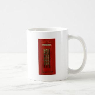 Vintage Red Telephone Box Basic White Mug