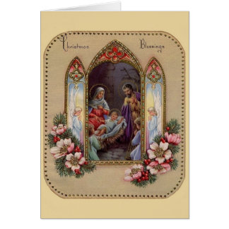 Vintage Religious Christmas Greeting Card
