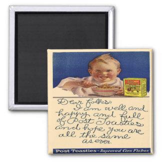 Vintage Retro Fun Ad Label Fridge Magnet