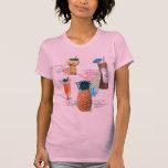 Vintage Retro Kitsch Tiki Cocktails Menu T-shirts