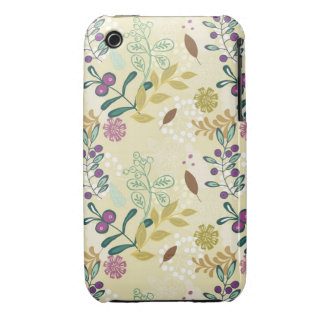 Vintage retro mod spring flowers floral pattern iPhone 3 Case-Mate case