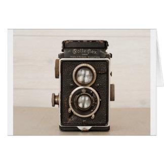 Vintage Rolleiflex Twin lens camera Greeting Card