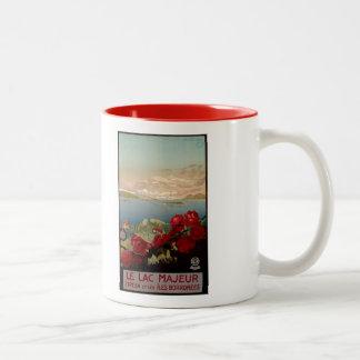 Vintage romantic Lake Maggiore Italian Travel Two-Tone Mug