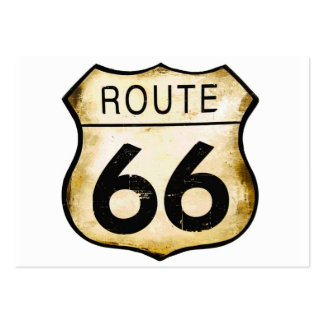 Vintage Route 66 Sign Pack Of Chubby Business Cards