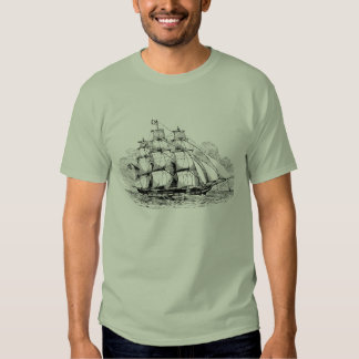 Vintage Sailing Ship T Shirts