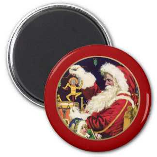 Vintage Santa Claus Christmas Gift Magnets