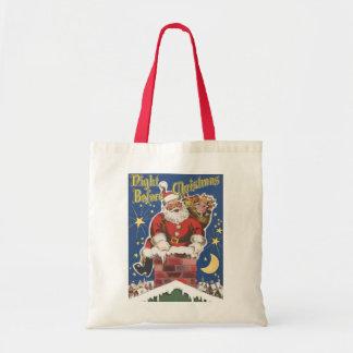 Vintage Santa Claus, Twas Night Before Christmas Budget Tote Bag