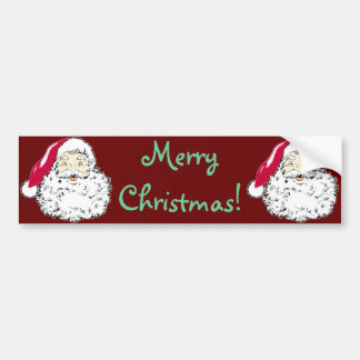 Vintage Santa Clause Christmas Decal Bumper Sticker