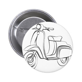 Vintage Scooter 6 Cm Round Badge