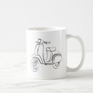 Vintage Scooter Basic White Mug