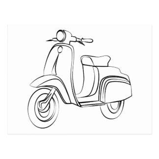 Vintage Scooter Postcard