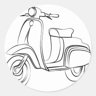 Vintage Scooter Round Sticker