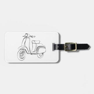 Vintage Scooter Travel Bag Tags