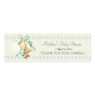 Vintage Sleeping Baby Shower Custom Favor Tag Pack Of Skinny Business Cards