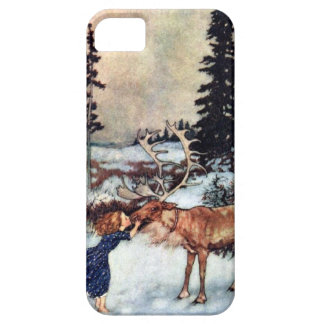 Vintage Snow Queen Fairy Tale with Gerda iPhone 5 Covers