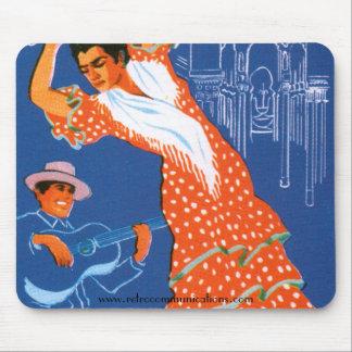 Vintage Spanish Travel Image Mousepad