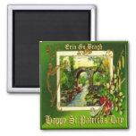 Vintage St Patricks Day 29 Square Magnet