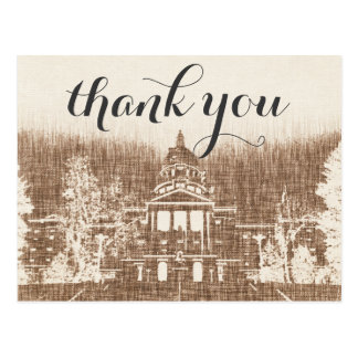 Vintage State Capitol Pride Thank You card Postcard