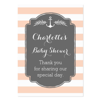 Vintage Stripes Nautical Baby Shower Favor Tags Pack Of Chubby Business Cards