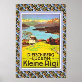 Vintage Swiss Poster Dietschiberg Luzern