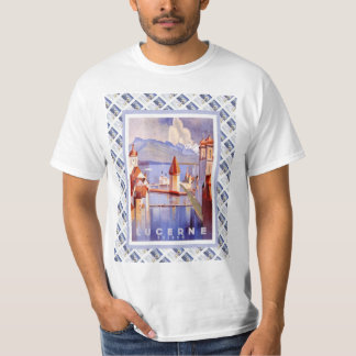 Vintage Swiss Railway Poster Luzern T-shirt