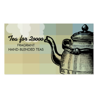 Vintage tea kettle teapot puffy steam biz card pack of standard business cards