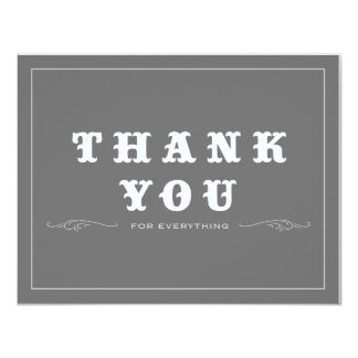 Vintage Thank You Double-Sided 11 Cm X 14 Cm Invitation Card