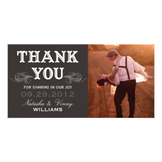 VINTAGE THANK YOU | WEDDING THANK YOU CARD CUSTOM PHOTO CARD