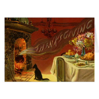 Vintage Thanksgiving Dinner Greeting Card