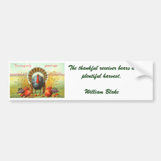 Vintage Thanksgiving Greetings Bumper Sticker